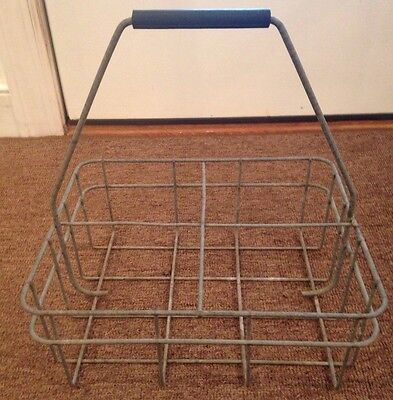 Vintage Metal Milk Bottle Holder Carrier Half Gallon