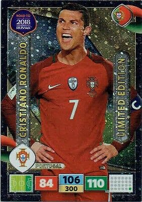 Limited Edition CRISTIANO RONALDO Road to World Cup 2018 card Panini Adrenalyn