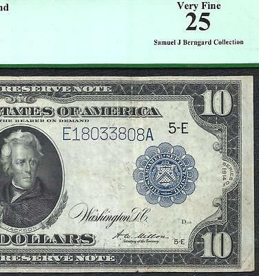 1914 $10 *RICHMOND* FEDERAL RESERVE NOTE! PCGS VERY FINE 25! Old US Paper Money!
