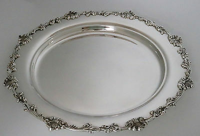 "Antique Sterling Silver Tray by Dominick & Haff 1891 14"" circular Salver"