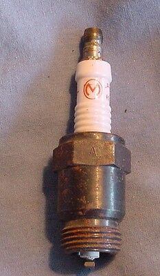 """M"" Mallory Ignition Co Vintage Antique Spark Plug"