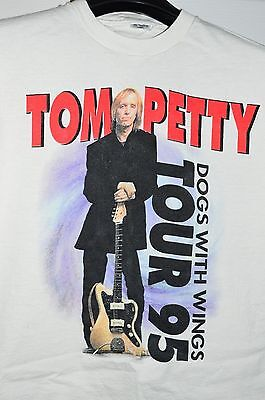 VTG Tom Petty and The Heartbreakers Dogs With Wings 1995 Tour T-Shirt Men's XL