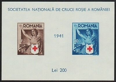 Rumänien 1941 - Mi-Nr. Block 16 ** - MNH - Rotes Kreuz / Red cross