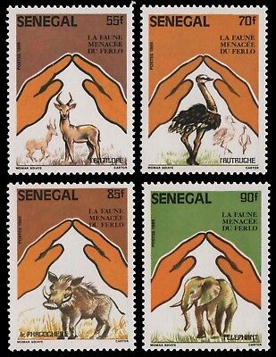 Senegal 1987 - Mi-Nr. 909-912 ** - MNH - Wildtiere / Wild animals