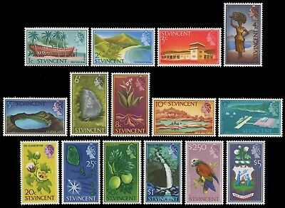 St. Vincent 1965 - Mi-Nr. 205-219 ** - MNH - Freimarken / Definitives