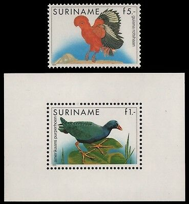 Surinam 1986 - Mi-Nr. 1165 & Block 43 ** - MNH - Vögel / Birds