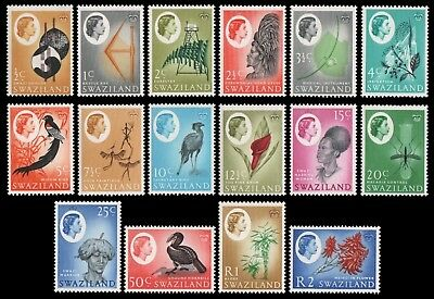 Swaziland 1962 - Mi-Nr. 92-107 ** - MNH - Freimarken / Definitives