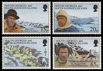 Süd-Georgien 1996 - Mi.Nr. 249-252 ** - MNH - E. Shackleton
