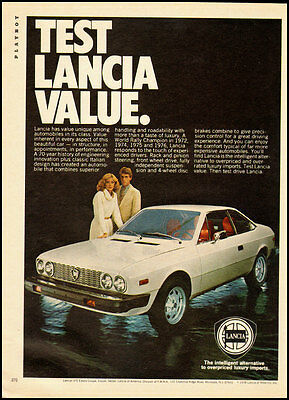 1978 Vintage ad for Lancia HPE Estate Coupe/White Color (120112)