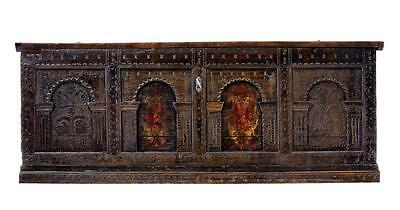 Large 17Th Century Continental Carved Oak Coffer