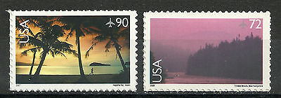 C143 C144***MNH US Singles***AIRMAIL**SCENIC AMERICAN LANDSCAPES***p1
