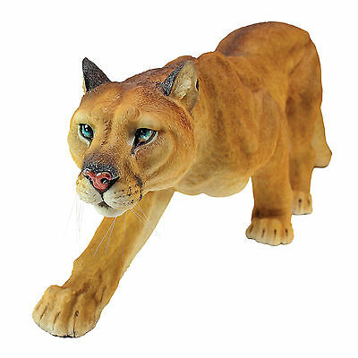 Prowling North American Mountain Cat Wildlife Cougar Animal Sculpture NEW