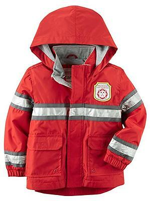 Carter's Toddler Boys Red Hooded Rain Jacket Size 3T