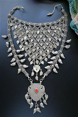 LONG VINTAGE SHIRSHIRI NECKLACE - Handcrafted Old Tribal Jewelry from Kashmir