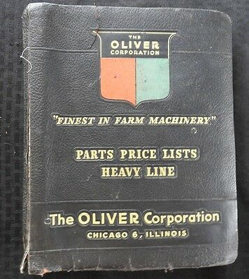 """1962 Oliver """"heavy Line"""" 550 660 770 880 Tractor Parts Price List Manual"""