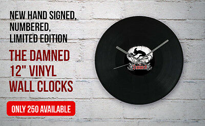 "Signed Numbered The DAMNED 12"" Vinyl Wall Clock LTD 250 Dave Vanian Captain Sen"