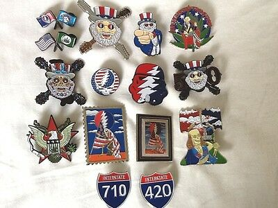 15 Pack Grateful Dead Patriotic American Flag July 4 Relix Red White Blue Pin S