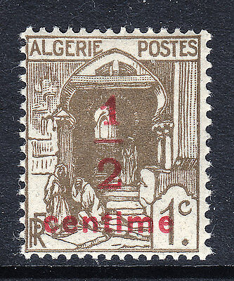 ALGERIA (RF): Early 1c + ½c Overprint (Newspaper Stamp?) - MH