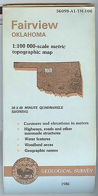 US Geological Survey topographic map metric FAIRVIEW Oklahoma 1986