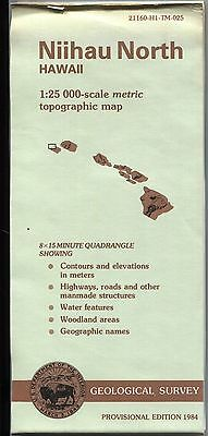 US Geological Survey topographic map metric provisional Hawaii NIIHAU NORTH 8X15