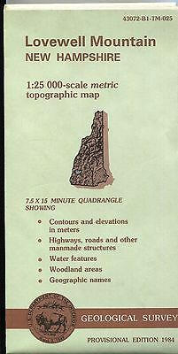 US Geological Survey topographic map metric New Hampshire LOVEWELL MOUNTAIN 1984