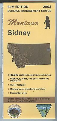 USGS BLM edition topographic map Montana SIDNEY 2003