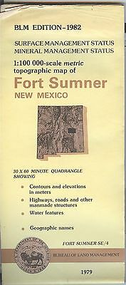 USGS BLM edition topographic map New Mexico FORT SUMNER 1982 mineral