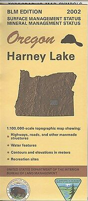 USGS BLM edition topographic map Oregon HARNEY LAKE 2002 mineral