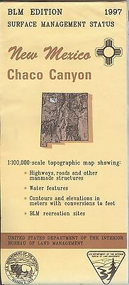 USGS BLM edition topographic map New Mexico CHACO CANYON 1997