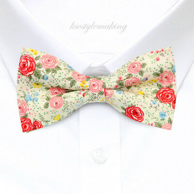 Brand new Multi-color Beautiful Flowers Tuxedo Fashion Floral Boys Bow Tie B1503