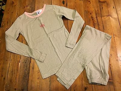 PETIT BATEAU Milleraies Girls Two Piece Cotton Pajama Set- Size 10- Retails $49