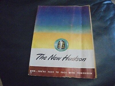Vintage 1947 Hudson Automobile Advertishing Brochure Booklet