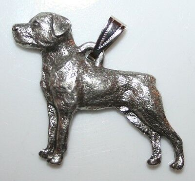 ROTTWEILER Dog Harris Fine Pewter Pendant USA Made