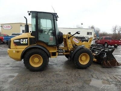 2015 Caterpillar 908H2 Compact Wheel Loader Diesel Cab Cat Rubber Tire Tractor
