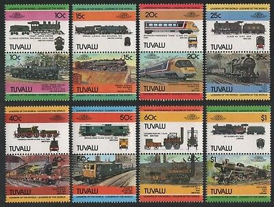 Tuvalu 1984 - Mi-Nr. 228-243 ** - MNH - Lokomotiven / Locomotives