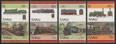 Tuvalu 1985 - Mi-Nr. 288-295 ** - MNH - Lokomotive / Locomotives