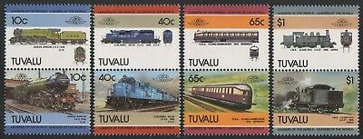 Tuvalu 1985 - Mi-Nr. 326-333 ** - MNH - Lokomotive / Locomotives