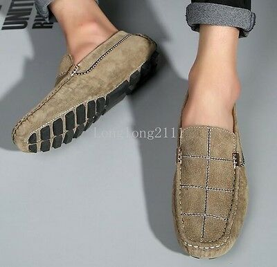 Men's Flats Slip on Suede Loafers Preppy Leisure Shoes Driving Travelling Shoes