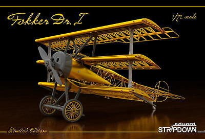 EDUARD 2114 Fokker Dr.I STRIPDOWN EXCLUSIV in 1:72 LIMITED!!
