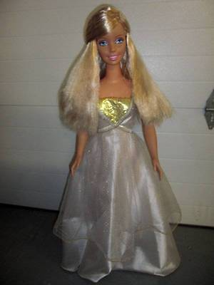 """Mattel, Inc. ~ 1992 My Size Barbie 38"""" in Original Barbie Outfit, No Wings"""
