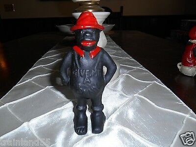 """Black Americana; Give Me A Penny"""" Cast Iron Bank  """""""" New* $$Best-Price$$$$"""