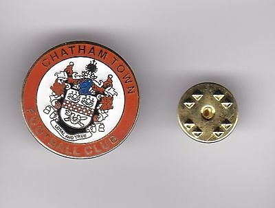 Chatham Town  - lapel badge butterfly fitting