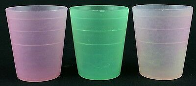 Vintage 101-26 Small Tupperware Containers Lot of 3 2 Pink 1 Green Mini Midget