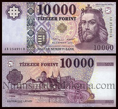 B-D-M Hungria Hungary 10000 Forint 2014 Pick New SC UNC