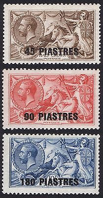 British Levant 1921 SG 48-50 45 Pi  to 180 Pi Fresh Lightly Mounted Mint Set
