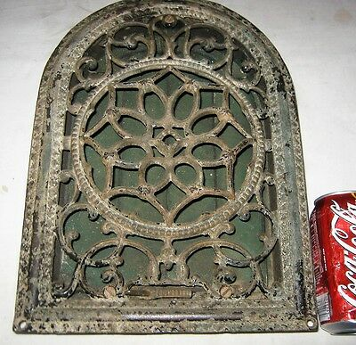 ANTIQUE 1870s AMERICAN VICTORIAN HOME ART USA CAST IRON HEATING FLOOR GRATE VENT