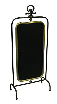 Double Sided Rotating Framed Standing Chalkboard 35 Inch