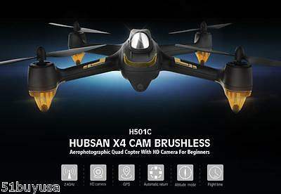 Hubsan x4 H501C RC Quadcopter Drone Brushless 1080p HD Camera GPS Altitude Hold
