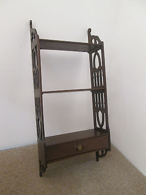 56951 Antique Wall Shelf Hanging Curio Bookcase