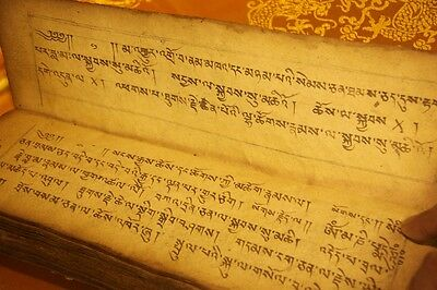 Wonderful 19th Century Old Antique Tibetan Buddhism Sutra Lection Manuscript